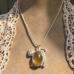 """Sweet """"Cat is Nature's Beauty"""" Vintage Necklace"""